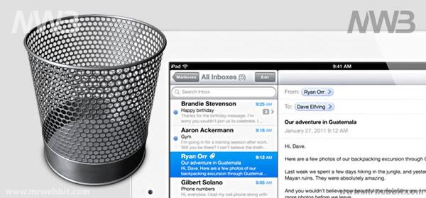 come si cancellano definitivamente le mail su ipad il tablet di apple