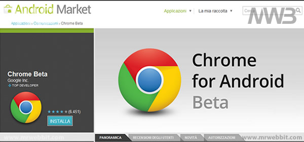 download google chrome per android