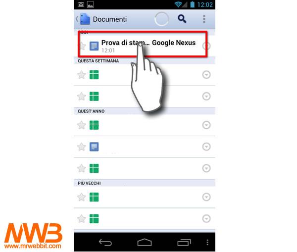 15-selezioniamo il documento da stampare con android
