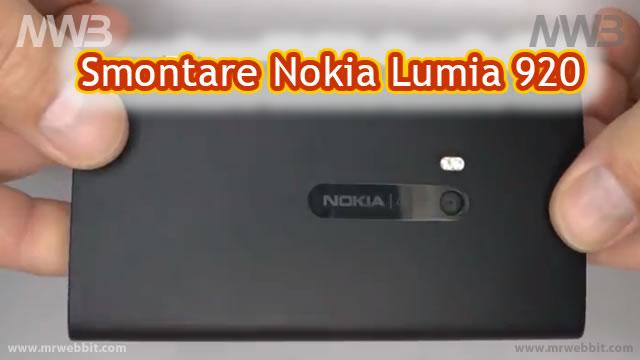 Come smontare nokia lumia 920