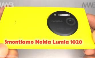 cambiare il display e smontare nokia lumia 1020
