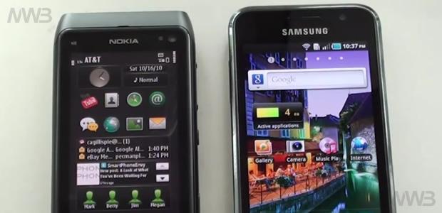 Nokia N8 contro  Samsung Galaxy S