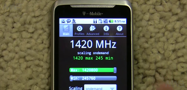 Overclock  T-Mobile G2