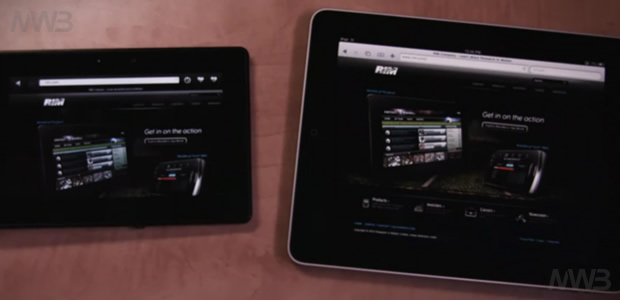 BlackBerry PlayBook e Apple iPad