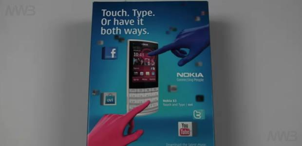 Nokia X3-02 unboxing