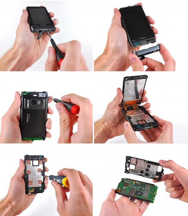 Aprire Nokia N8, manuale di apertura