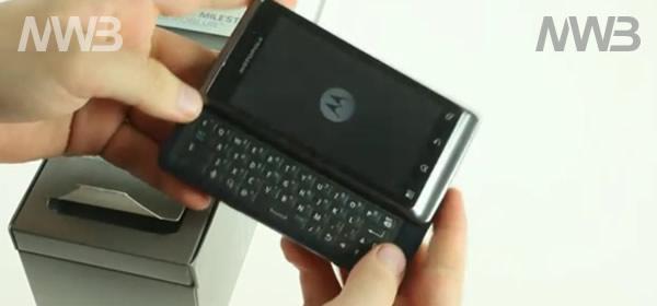 Motorola Milestone 2, contenuto della confezione o scatola