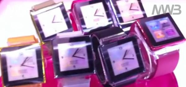 Un orologio a forma di iPod Nano