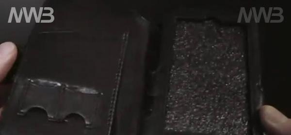 Custodia in pelle nera per nokia n8