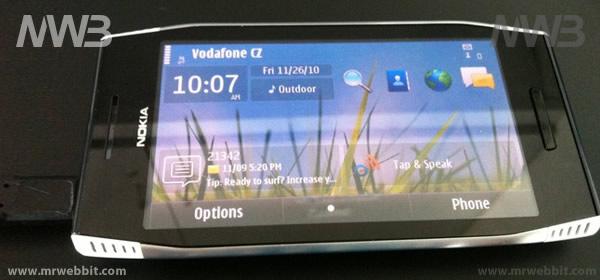 Visione dall'alto di Nokia X7