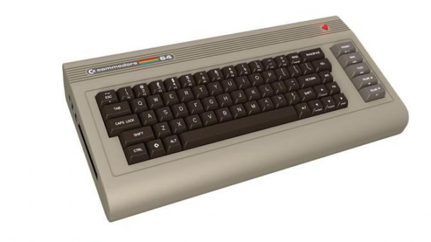 Visione della tastiera del nuovo commodore 64