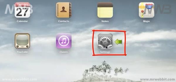 schermata principale di ipad e ipad 2