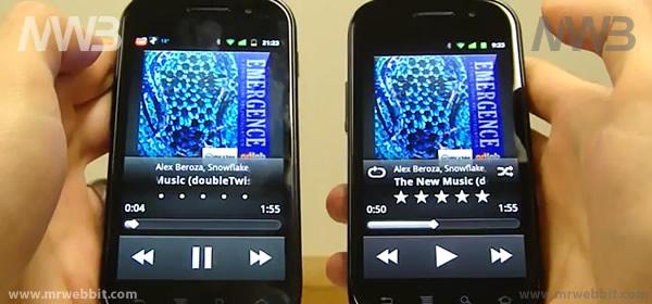 avviciniamo 2 smartphone android per condividere Mp3