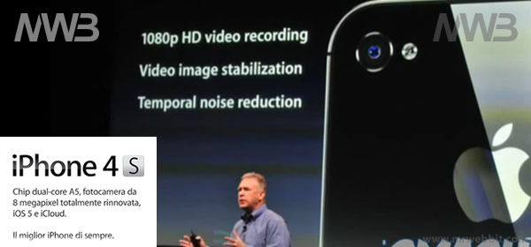 caratteristiche tecniche iphone 4s, servizi offerti e novità