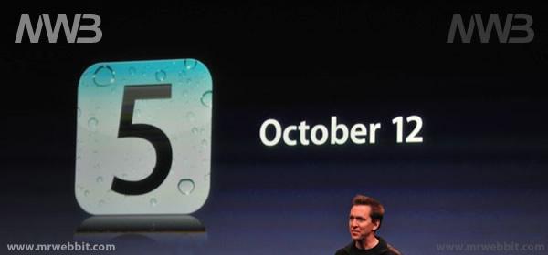 Novità il download di iOS5 per ipad i iphone il 12 ottobre