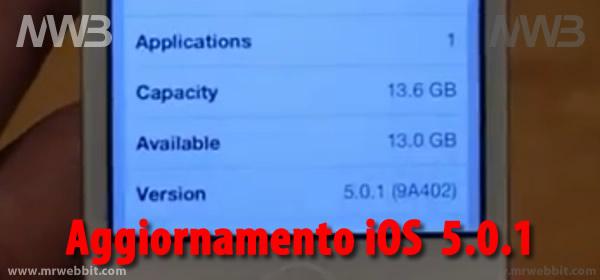aggiornamento  ios 5.0.1 iphone 4s corretto problema consumo batteria
