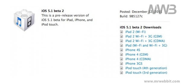 aggiornamento ios 5.1 per ipad ipod e iphone corretti bug e nuove funzioni