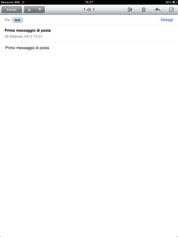 configurare mail su ipad 2, buona lettura a tutti delle proprie mail