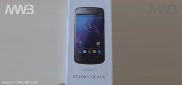 samsung galaxy nexus contenuto della scatola