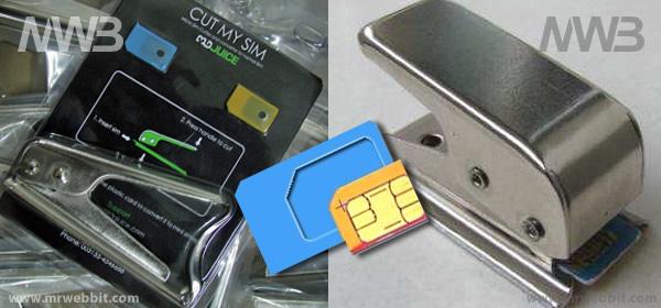 strumento per tagliare le SIM per adattarla a iphone e ipad