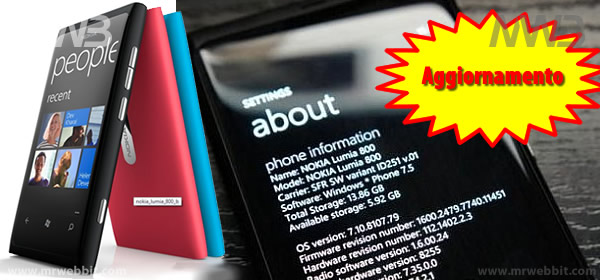 aggiornamento nokia lumia 800 download con zune
