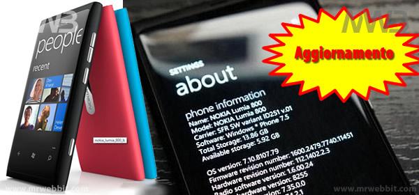 aggiornamento nokia lumia 800 download con zune