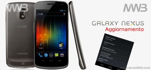 aggiornamento firmware galaxy nexus 4.0.4 download e procedura