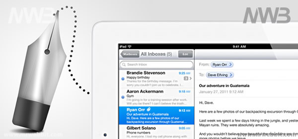 come si inviano le mail con ipad 2 il tablet di apple