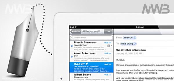 come si inviano le mail con ipad 2 il tablet di apple
