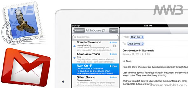 configurare posta elettronica mail su apple table ipad 2