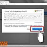 02-accettiamo l'installazione di google chrome per stampare con android