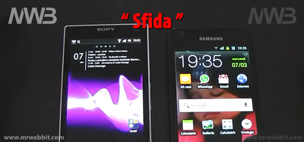 differenza fra Sony Xperia S e Samsung Galaxy S2