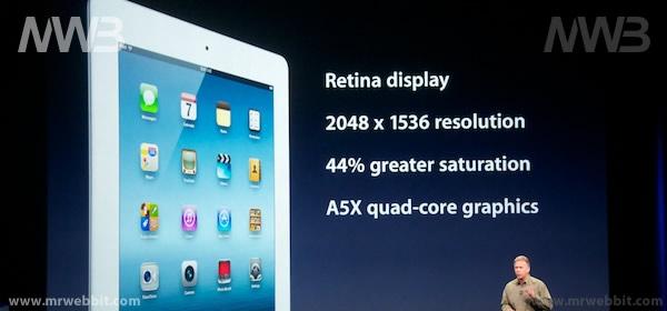 nuovo ipad con retina display e porcessore a5x
