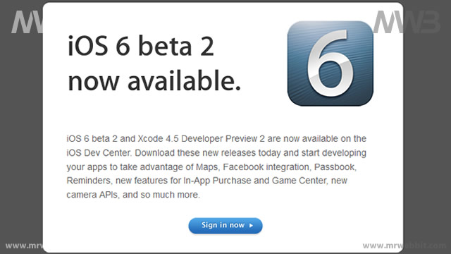 aggiornamento ios6 beta 2 la notifica ufficiale di apple
