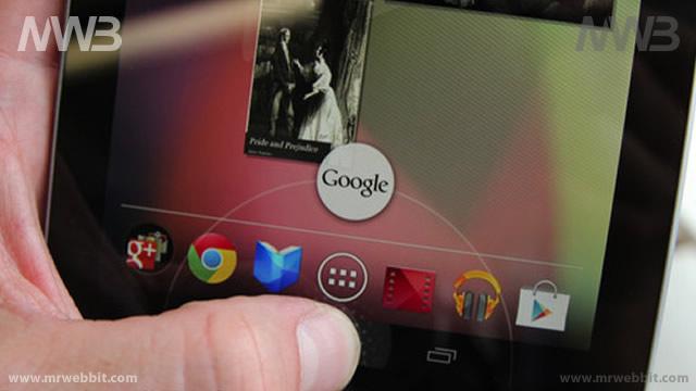 android 4.1 con la nuova barra dei menu su google nexus 7