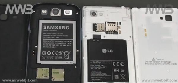 come sono fatti dentro Samsung Galaxy S III e LG Optimus 4X HD