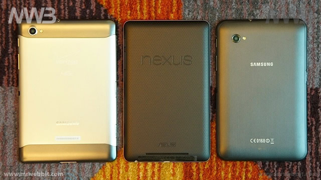 differenze fra i tablet e il nuovo google nexus 7 visti da dietro