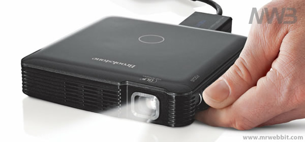 proiettore portatile a batterie per iphone e smartphone android