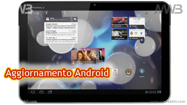 Motorola Xoom 3G download aggiornamento android ICS