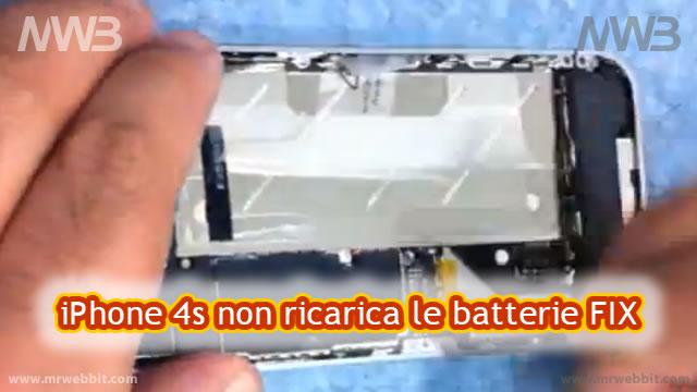 come riparare iphone 4 s che non ricarica le batterie smontandolo