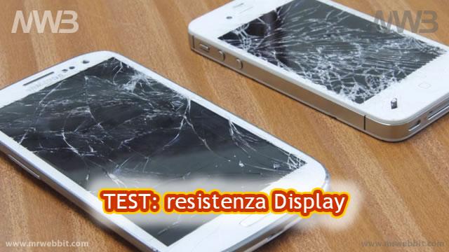 iphone 4s e samsung galaxy s3 display rotto dopo una caduta