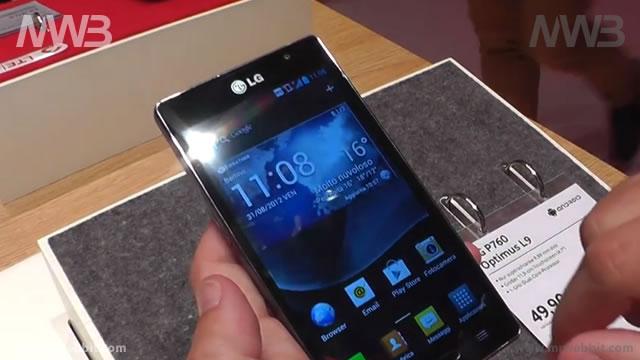 Anteprima Lg Optimus L9  presentato IFA 2012