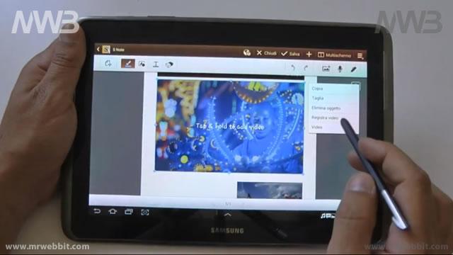 come usare il pennino s-note su galaxy note e android