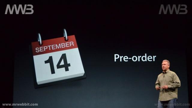 preordini il 14 settembre per iphone 5