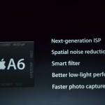 processore a6 di iphone 5 per foto migliori