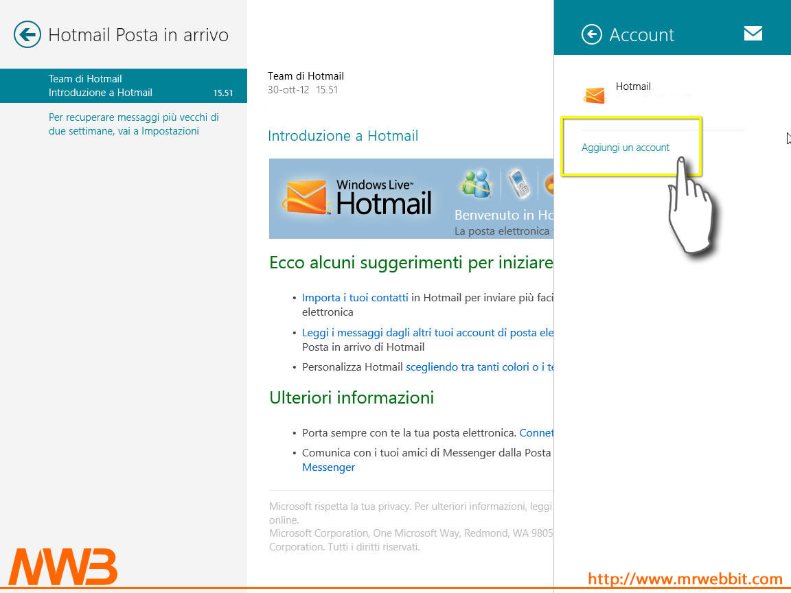 Scaricare la posta con protocollo POP3 e Windows 8