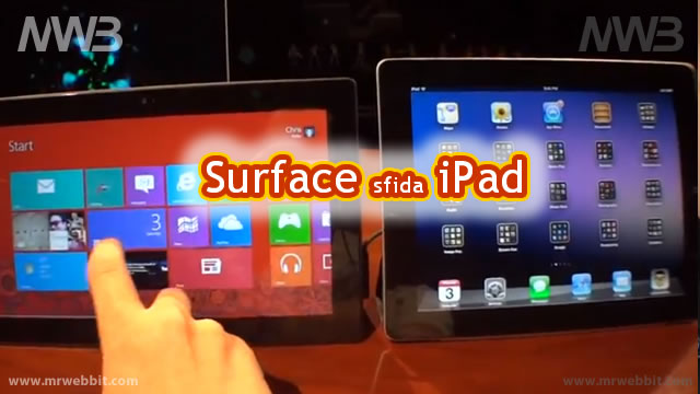 microsoft windows 8 surface sfida apple iPad le differenze