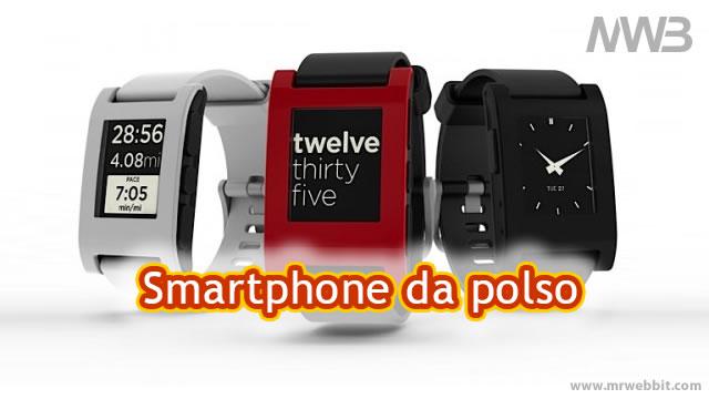 smartphone da polso sincronizzabile con ios iphone e android