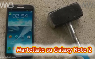 Rompere a martellate Galaxy Note 2