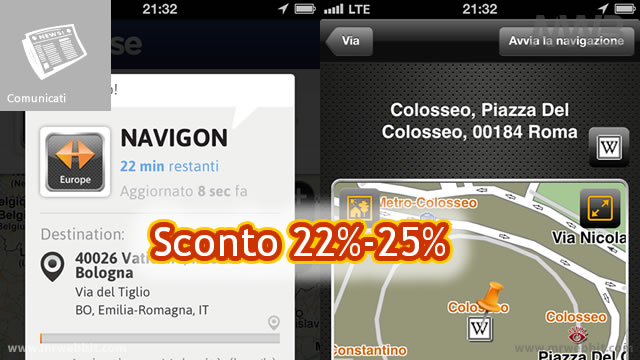 sconti navigatore satellitare navigon per iphone a android